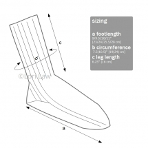sock knitting pattern technical drawing